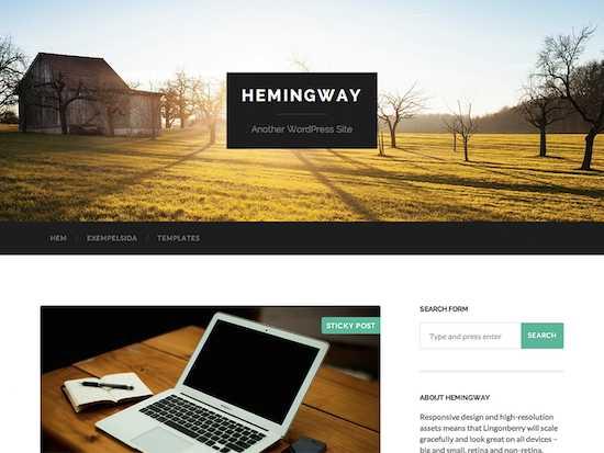 Hemingway-free wordpress theme 2014
