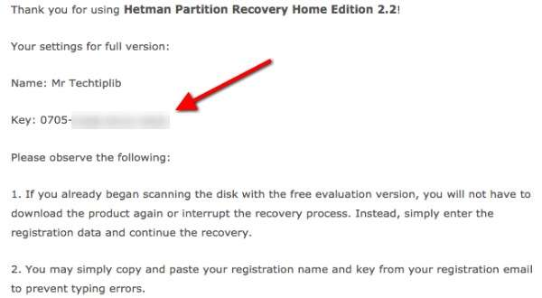 Hetman Partition Recovery key_3