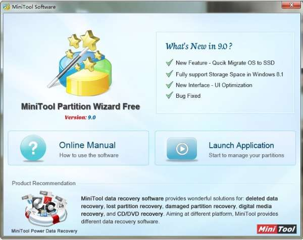 MiniTool Partition Wizard 9.0 1