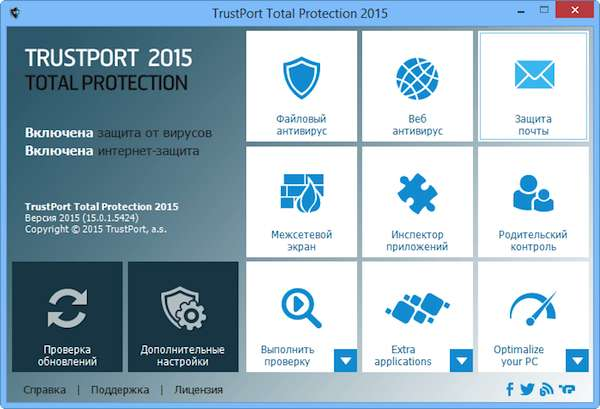 TrustPort Total Protection 2015 screen