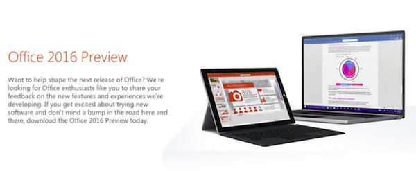 Office 2016 specifications