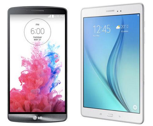 LG G3 Samsung Galaxy Tab A 9.7