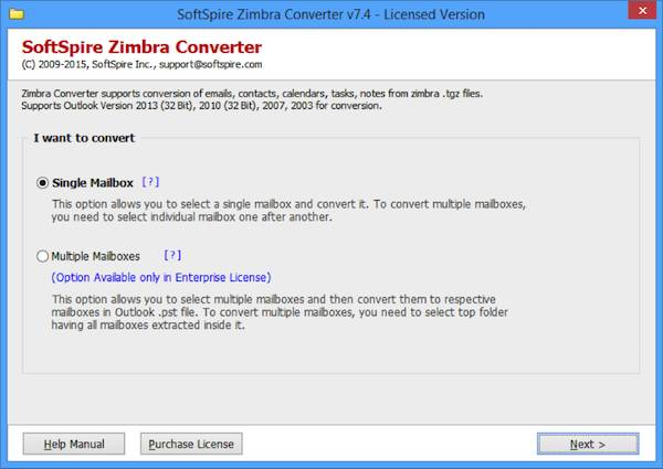 Zimbra Converter 1