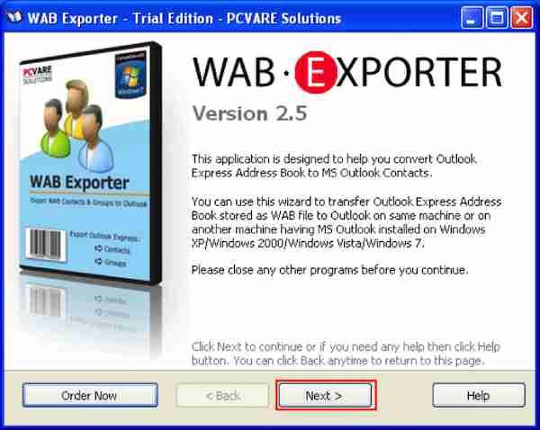 WAB to PST Converter 1