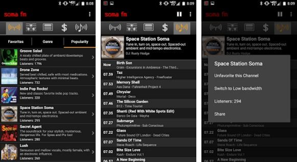 Android radio player