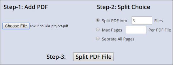 Split PDF online 1