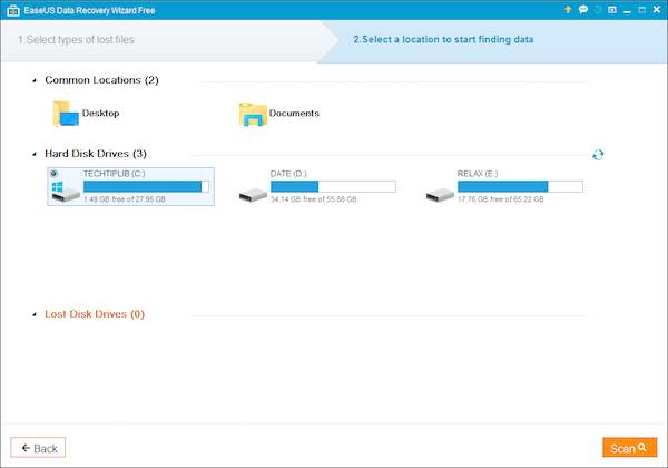 EaseUS Data Recovery Wizard free 2