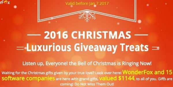 Christmas giveaway wonderfox