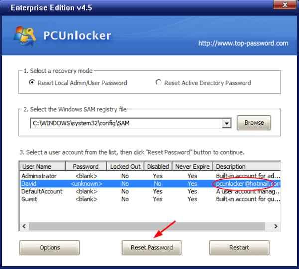 Reset Forgotten Password 2